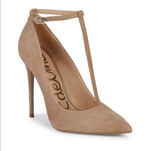 Sam Edelman Dorinda ankle strap suede stilettos